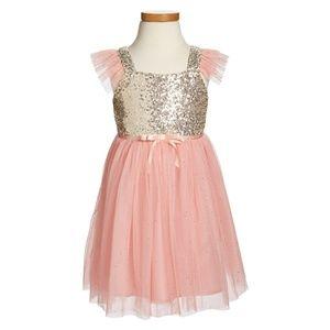 Popatu pink tutu hold sequin dress